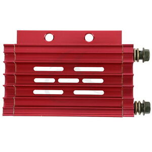 Aluminum Cnc Motorcycle Oil Cooler Radiator Cooling For Atv 50cc 125cc New Red