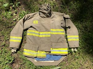 Morning Pride Fire Fighter Turnout Jacket 42 29 35 34 Bunker Gear 2758