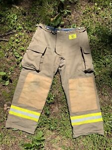 Morning Pride Fire Fighter Turnout Pants 38x31 Bunker Gear 2791