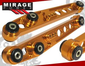 For 94 01 Acura Integra Ls Rs Gs r 2pc Rear Lower Suspension Control Arm Gold
