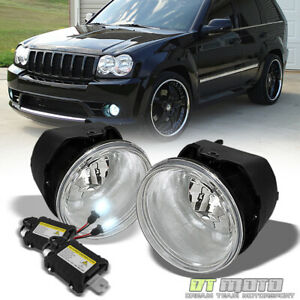 2005 2010 Jeep Grand Cherokee Commander Durango Dakota 300 Fog Lights 6000k Hid