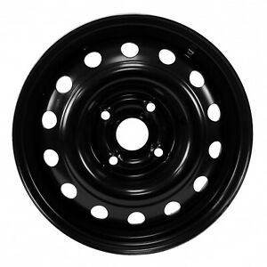 72688 New Compatible Black Steel Wheel 15 Inch Fits 2004 2007 Chevrolet Optra
