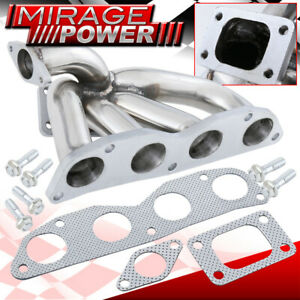 For 02 05 Honda Civic Acura Rsx Si Ep3 T3 T4 Stainless Turbo Manifold K20 K20a