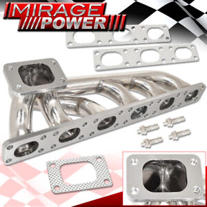 For 1992 1999 Bmw 3 Series E36 M3 S50 S52 Stainless Exhaust T3 T4 Turbo Manifold