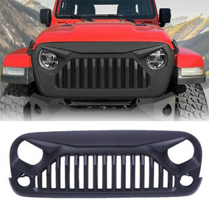 Fits Jeep Wrangler 2007 18 Jk Front Hood Abs Plastic Grill Grille