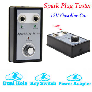 Dual Hole Car Spark Plug Analyze Tester Two Channel Ignition Coil Diagnostic