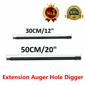Extension Drill Bit Auger 20 12 Gas Post Hole Digger Earth Kit Long 3 4 Shaft