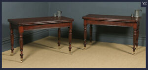 Antique English Pair Of William Iv Mahogany Console Side Hall Occasional Tables