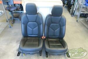 2011 2014 Porsche Cayenne Front Left Right Seat Set Bucket Leather Oem 2012