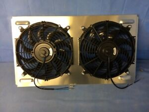 1966 1967 Chevrolet Chevelle Aluminum Shroud With Dual Electric Fans