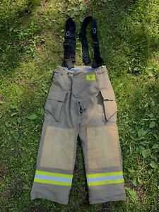 Morning Pride Fire Fighter Turnout Pants 34x31 Bunker Gear 2783