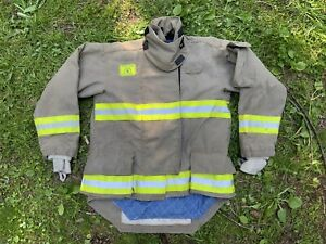 Morning Pride Fire Fighter Turnout Jacket 42 29 35 34 Bunker Gear 2753