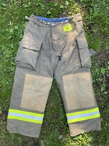 Morning Pride Fire Fighter Turnout Pants 38x30 Bunker Gear 2796
