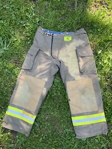 Morning Pride Fire Fighter Turnout Pants 38x30 Bunker Gear 2797