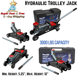 Auto Car Repair Floor Jack Hydraulic Steel Handle Trolley Profile Lift 3000 Lbs