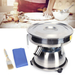 2 Layer Customized Screen Electric Vibrating Sieve Machine Powder Sifter 10 Mesh