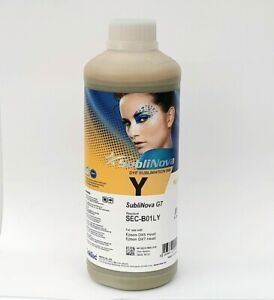 1ltr Inktec Sublinova G7 Sec b01l Sublimation Ink Yellow For Epson Dx5 Dx7 Tfp