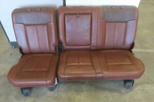 2012 Ford F250sd Rear Seat Set Bench Leather Crew Cab Oem