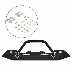 Ironmax Front Bumper For 2007 2016 Jeep Wrangler Jk Winch Plate Led Lights