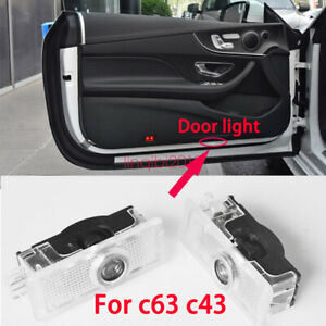2x Led Door Courtesy Logo Light Ghost Shadow Laser Projector For C43 C63 C63s