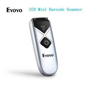 Eyoyo Wireless Bluetooth Barcode Scanner Ccd Screen Scanning Reader For Android