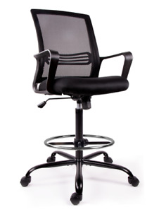 Ergonomic Tall Office Chair With Foot Ring