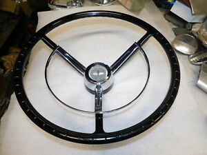 1961 Mercury Meteor Nos Steering Wheel Used Horn Ring