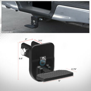 2 Class 3 Matte Black Rear Hitch Receiver Folding Style Step Bar Fits Gmc C10