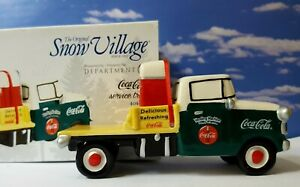 DEPT 56 Snow Village COCA COLA SERVICE TRUCK!   Coke  Soda  Delivery  Rare