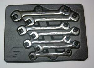 Nice Snap On Metric 4 Way Angle Head Open End Wrench Set 7 Pc 10 17mm Vsm807b