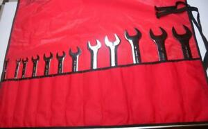Nice 970 Snap On Low Torque Slimline 15 Degree Offset Tappet Wrench Set 12 Pc