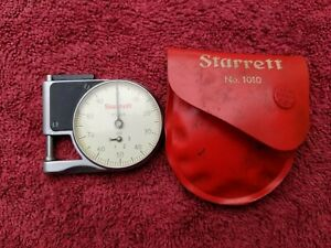 Starrett Machinist Pocket Dial Gage Caliper No 1010