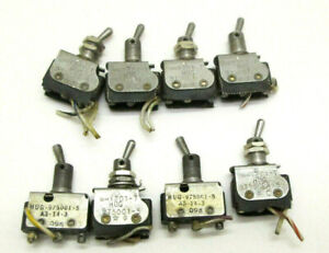 Vtg Lot Of 4 You Micro Switch toggle Switches 6at201 t 975001 5 Made In Usa