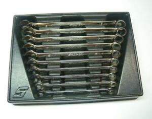 Nice Snap On Metric Standard Combination Wrench Set 10 Pc 10 19mm Oexm710b