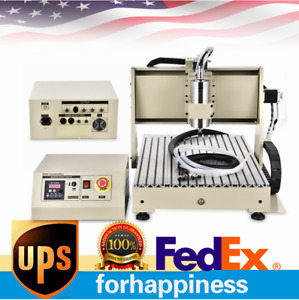 Usb 4axis Cnc 6040 Router Engraver Milling Drill Machine 1 5kw Vfd control Box