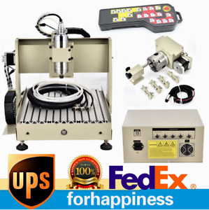 Cnc 3040 Usb 4 Axis Engraving Diy Machine 110v Router 800w Remote Controller Us