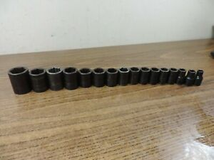 Snap On Metric Shallow 16 Pc 6 Pt Impact Socket Set Imm100a 10mm Imm170a 17mm