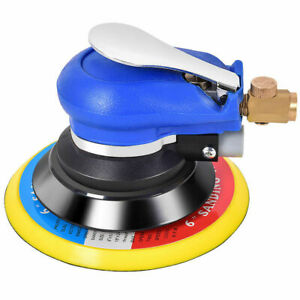 6 Air Palm Random Orbital Sander 10000 Rpm Hand Sanding Pneumatic Round New