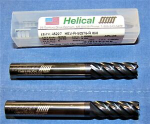 Helical Carbide End Mill 3 8 5 Flute Sq End Mills 2 Pcs Lot Edp44227