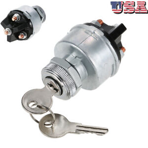 Universal Ignition Key Starter Switch With 2 Keys For Car Tractor Trailer W1h9