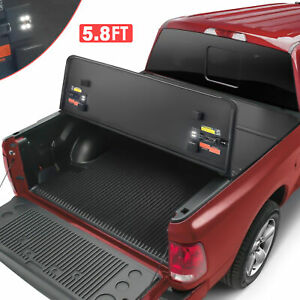 Tri fold Hard Tonneau Cover On Top For 5 8 Feet Bed Ram 1500 Truck 2009 2019