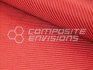 Red Fabric Made With Kevlar 2x2 Twill Weave 50 6 2oz 210gsm