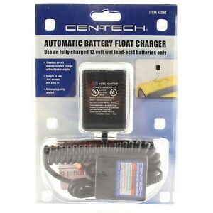 Cen Tech Battery Trickle Float Charge Maintainer For 12v Batteries 5 125 Ahr