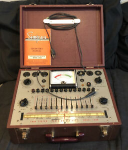 Simpson Plate Conductance Tube Tester Model 1000 W manual Untested