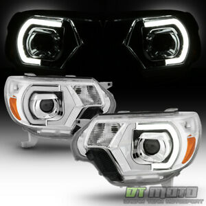 New Mono eye Style Led Drl Tube Projector Headlights For 2012 2015 Toyota Tacoma