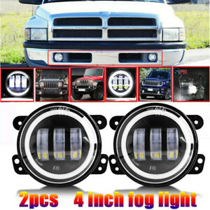 4inch Round 60w Led Fog Lights Front Bumper For 94 01 Dodge Ram 1500 2500 3500