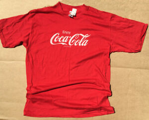 Enjoy Coca Cola T-shirt Vintage 90s Single Stitch Soda Drink Coke Signal XL NEW