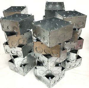 25 Steel City 4 Square Metal Electrical Boxes New 521711234e See Photos