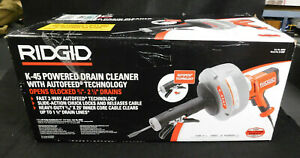 Ridgid 35473 Hand held Drain Cleaner With Auto Feed Model K 45af