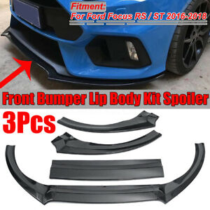 For Ford Focus St Rs 2016 2018 Carbon Fiber Look Front Bumper Lip Protector